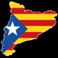 Catalonia map-flag estelada.png