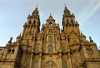 The Cathedral of Santiago de Compostela. The w...