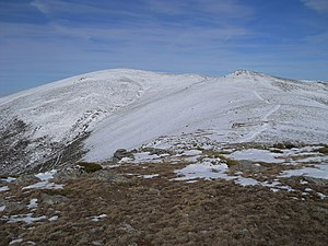 First Division (Spain) - View of the mountains of the Somosierra area in the winter.