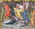 Cenni di francesco, incoronazione della vergine con sannti, anni 1390, predella 02 tentazioni di sant'antonio 2.JPG