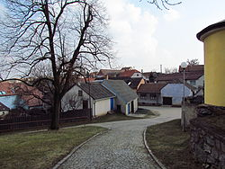 Center of Chlístov, Třebíč District.JPG