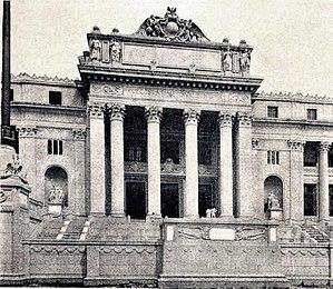 National Museum of Fine Arts (Manila) - The central façade of the Legislative Building ca. 1940