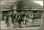 Ceremonial round dance, resembles the Japanese Bon-Odori (Temple dance in which the departed are commemorated) (10795473465).jpg
