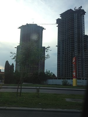 Cevahir Towers - The towers under-construction in July 2013