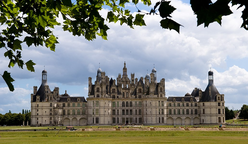 The royal Château de Chambord at Chambord, Loir-et-Cher, France.