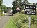 Chérisay (Sarthe) lieu-dit La Gare, panneau entrée.jpg