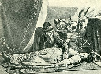 The Maid of Pskov - Feodor Chaliapin as Ivan IV and V. A. Eberle as Olga (Russian Private Opera, 1896)