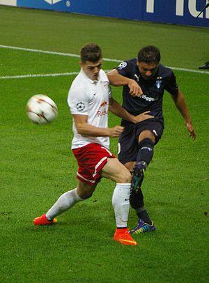 Ricardo Ferreira da Silva - Ricardinho playing for Malmö FF in a Champions League qualifier against Red Bull Salzburg in 2014.