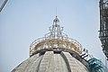 Chandrodaya Mandir Central Dome Spire Under Construction - Temple Of Vedic Planetarium - ISKCON Campus - Mayapur - Nadia 2017-08-15 2090.JPG
