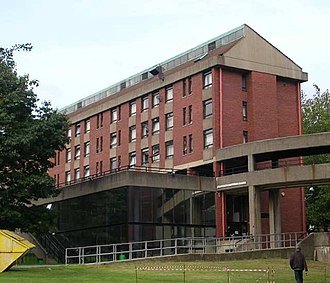 Mary Ogilvie House (now demolished), student accommodation on the main campus Charles Morris Hall - Mary Ogilvie House - Leeds University - geograph.org.uk - 572070.jpg