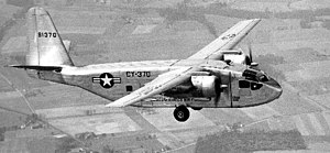 Chase YC-122 Avitruc - A YC-122 in flight