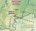 Chelyabinsk 2013 meteoroid trajectory.jpg