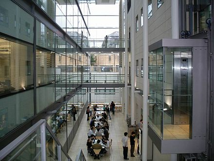 Atrium of the Chemistry Research Laboratory, where the university has invested heavily in new facilities in recent years Chemistry Research Laboratory Atrium.JPG