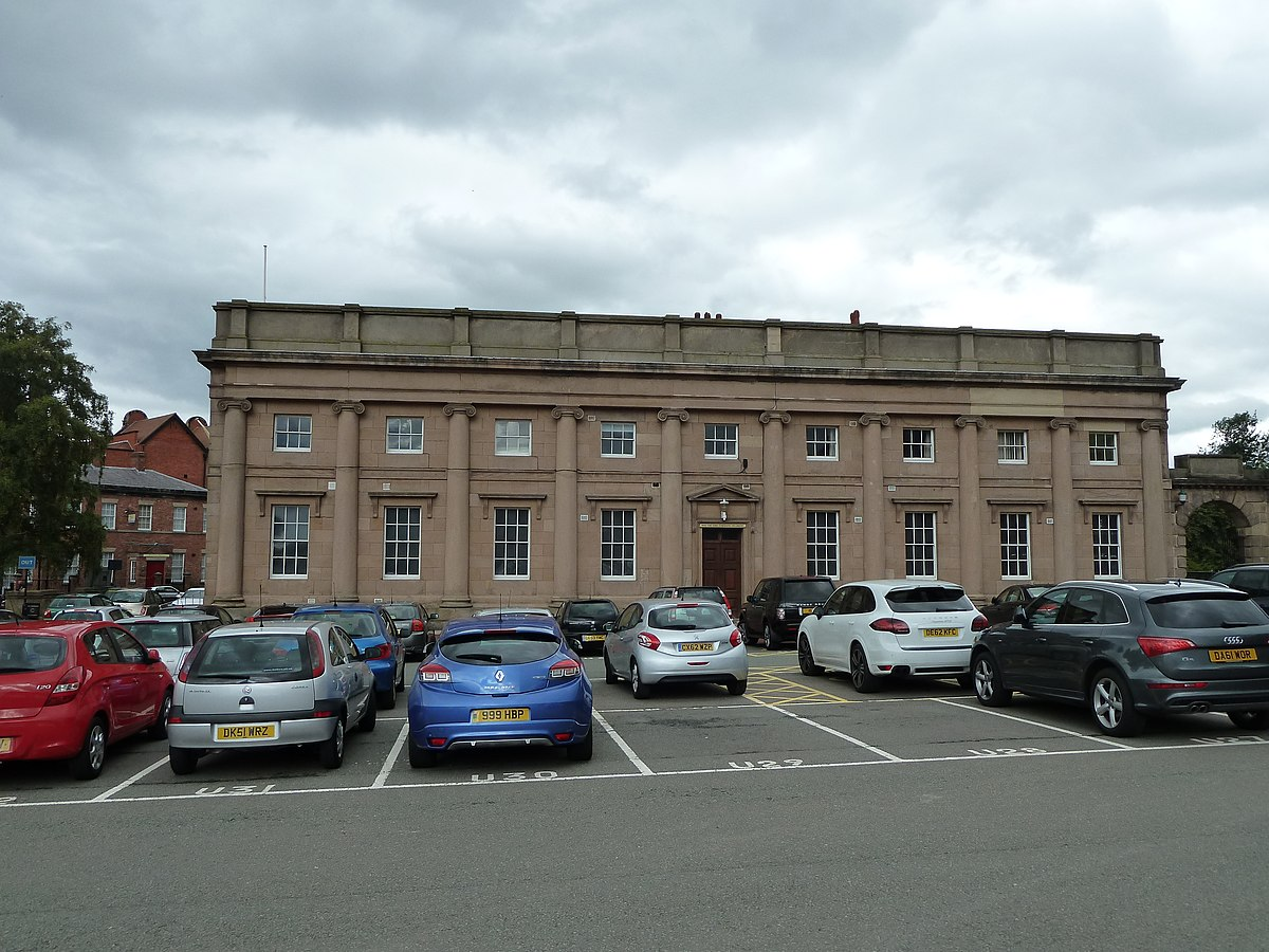 Chester Castle - Outer bailey - A Block Side.JPG