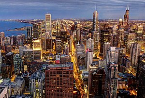 Chicago skyline, viewed from John Hancock Center