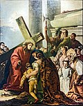 Chiesa di San Polo (Venice) - VIA CRUCIS VIII - Jesus meets the women of Jerusalem who weep by Giandomenico Tiepolo.jpg