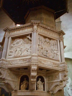 Benedetto da Maiano - Pulpit of Santa Croce in Florence