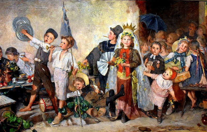Children Playing at Weddings, by Emma Ekwall. Nationalmuseum, Stockholm, Sweden