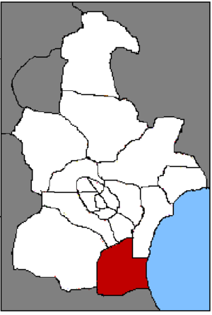 Dagang District - Location of Dagang on Tianjin.
