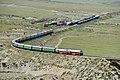 China Railways passenger train 5827 on Southern Xinjiang railway 20120806.jpg