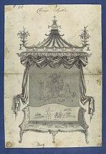 Chinese Sopha -Sofa-, in Chippendale Drawings, Vol. I MET DP104166