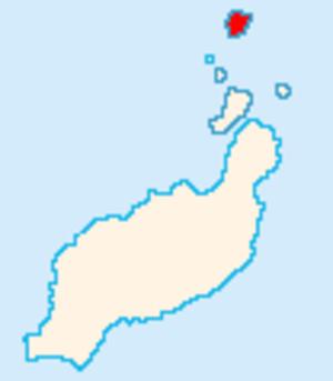 Alegranza - Map of Lanzarote showing Alegranza