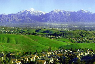 Chino Hills, California - Chino Hills, with the San Gabriel Mountains in background