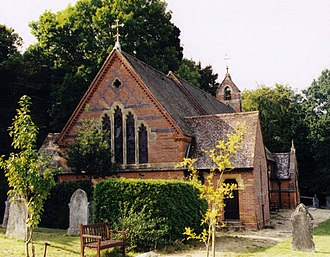 Lyndhurst, Hampshire - Image: Christ Church, Emery Down geograph.org.uk 1508646
