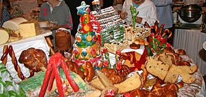 On Christmas Eve, there was a huge buffet, hig...