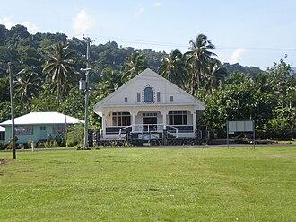 Samoan culture - A church in Matavai village, Savai'i.