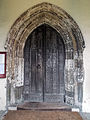 Church of St John, Finchingfield Essex England - Nave door from south porch.jpg