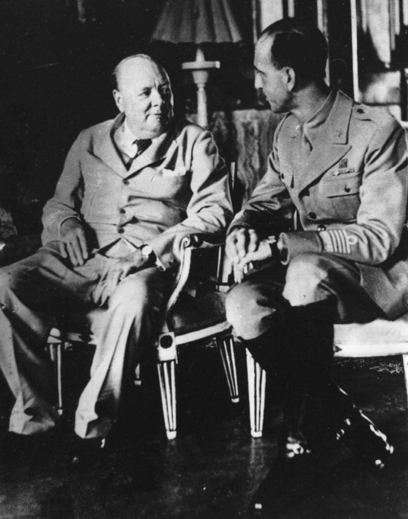 Churchill and Umberto of Savoy 1944