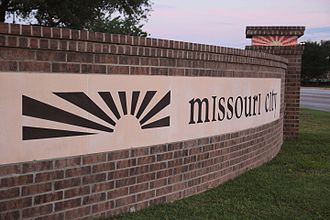 Missouri City, Texas - City Sign for Missouri City