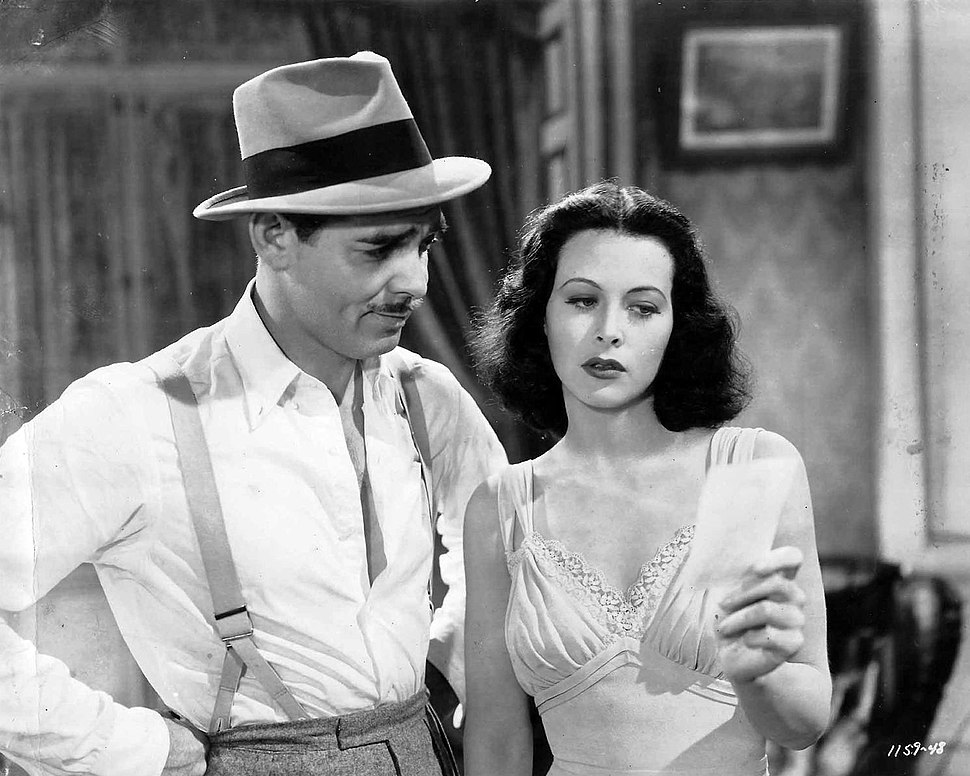 Clark Gable and Hedy Lamarr Publicity Photo for Comrade X 1940