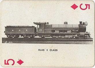 South African type TJ tender - Type TJ tender on NGR Class B of 1909
