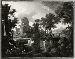 Classical Landscape with Ruins and Harvesters
