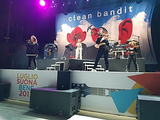 Clean Bandit - Clean Bandit on stage in Rome on 28 June 2017.
