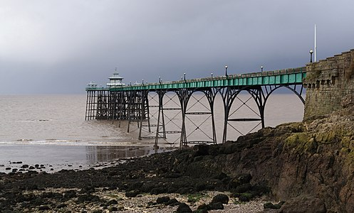 Clevedon Pier at low tide.