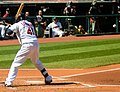 Cleveland Indians vs. Los Angeles of Anaheim (15194869575).jpg