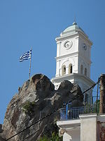 Clock tower in Poros.jpg