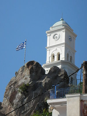 Clock tower in Poros