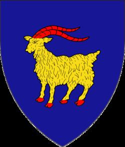 Wappen Istriens, aus der Wappenkrone des Wappen Kroatiens