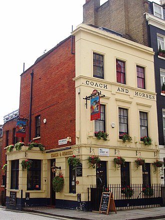 Hill Street, London - Image: Coach and Horses, Hill Street, Mayfair, W1 (2711850562)