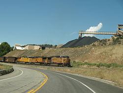 Coal train near Somerset, Colorado