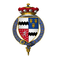 Coat of arms of Sir Thomas West, 9th Baron De La Warr, KB, KG.png