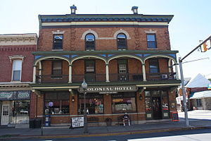 National Register of Historic Places listings in Northampton County, Pennsylvania - Image: Colonial Hotel, Bangor PA 01