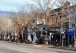 Vecchio quartiere degli affari della città del Colorado