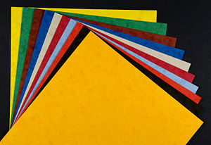 Paper - Card and paper stock for crafts use comes in a wide variety of textures and colors.