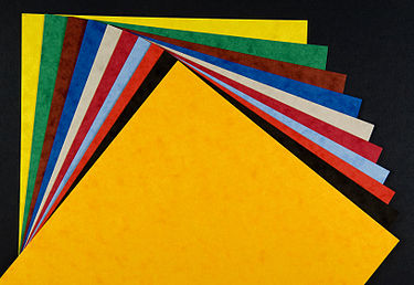 coloured card stock Source: Wikipedia