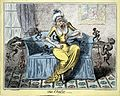 Coloured etching; 'The Cholic'; by Cruikshank Wellcome L0002395.jpg